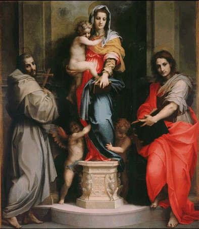 Andrea Del                 Sarto's Madonna delle Arpie at the Uffizi Gallery