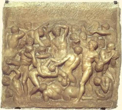 Michelangelo's Battle                         of the Centaurs